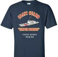 USCGC KUKUI  WLB-203 *COAST GUARD  VINYL PRINT SHIRT/SWEAT