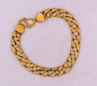 STYLISH 7 MM 22K SOLID GOLD CUBAN LINK CHAIN MEN'S BRACELET ALL SIZES DAILY USE