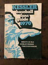 Vintage 1970 KESSLER Whiskey Baseball Fans Guide Pamphlet Booklet