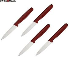4 LOT Victorinox Kitchen Steak Paring Knife 3 ¼ Stainless Steel Blade Red Handle