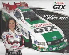 "2009 ASHLEY FORCE ""CASTROL GTX"" JOHN FORCE RACING NHRA HANDOUT/POSTCARD"