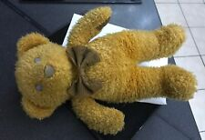 """Vintage Chad Valley 1970's Cord 14"""" Gold Curly Marmalade Bear Glass Eyes"""
