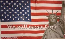 We Will Never Forget 911 Twin Towers USA United States of America 5'x3' Flag