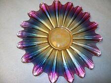Beautiful Cake Plate w Multi Color Tones 11'' D
