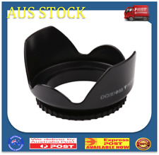 58mm Professional Flower Shape Screw Mount Camera Lens Hood for Cannon(58mm)