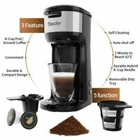 Single-Serve Coffee Maker K-Cup Stainless Steel Coffee Machine for Office