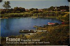 Affiche France PORT SUR SAÔNE Franche-Comté - Tourisme