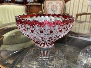 Ruby Red Crystal Vase