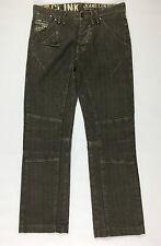 Clink jeans pantalone donna w28 tg 42 cargo chino usati dritti boyfriend T725