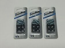 Grand General 50852 Chrome Aluminum License Plate Fastener with Clear Crystal