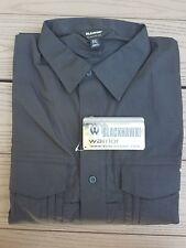 Men's Black BLACKHAWK! Warrior Wear Long Sleeve MDU Field Shirt Size XXXL 3XL