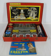 Vintage AC GILBERT ERECTOR SET #8½ Builds Giant Ferris Wheel Metal Case FULL yqz