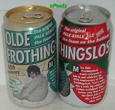 OLD FROTHINGSLOSH 40yrs BEER CANS PALE STALE ALE FOAM ON BOTTOM GIRL PITTSBURGH