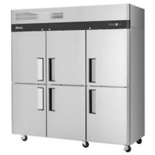 Turbo Air M3R72-6-N Three-Section Half Solid Door Cooler Refrigerator (M3R72-6)