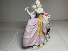 Ludwigsburg Woman Dancer in Large Crinoline Dress Holding Fan Figurine