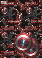 Marvel Captain America wrapping paper Avengers - Gift Wrap 2 sheets 49cm x 70cm