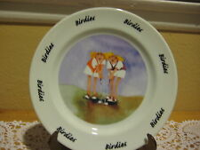 2000 Golfer Birdies Erika Oller By House Of Prill Salad Plate 7 1/2""
