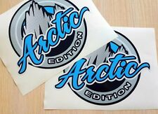 Pair ARCTIC EDITION Badge Emblem Vinyl Hood Decals Stickers Wrangler TJ LJ JK