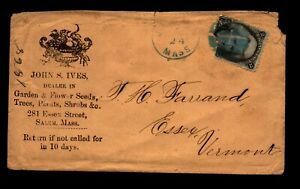 1860s Salem Mass - Black Jack Cover - Mixed Condition - L33767