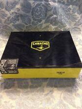 "Beautiful yellow black laquer>""Camacho Criollo Toro"" Wooden Empty Cigar Box"