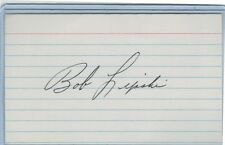 BOB LIPSKI INDEX CARDS SIGNED 1963 CLEVELAND INDIANS PSA/DNA CERTIFIED