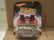hot wheels retro entertainment back to the future time machine w/RR NIP 1/64