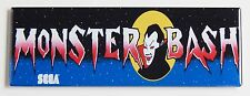 Monster Bash Marquee FRIDGE MAGNET (1.5 x 4.5 inches) arcade video game vampire