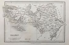 1841 Antique Map; County of Galway, Ireland