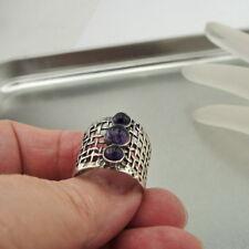 Hadar Designers Amethyst Ring sz 6.5,7,8,9,10 Handmade Sterling Silver (H 142)
