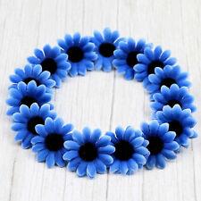 4cm Royal Blue Artificial Gerbera Daisy Flowers Head Autumn Fake Silk Sunflower