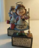"Blossom Bucket Figurine 4"" Housework Angel sweet"