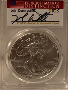 2021 Type 1 Silver Eagle MS70 First Strike, Founders Mark of Distinction Label