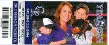 2012 Rockies vs Dodgers Ticket: Elian Herrera and Andre Ethier each had 2 hits