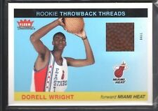 DORELL WRIGHT 2004/05 FLEER TRADITION THROWBACK THREADS GAME BALL HEAT SP $12