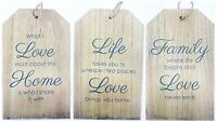 Shabby Chic Wooden Hanging Door Wall Sign Plaque Luggage Tag House Decor Gift