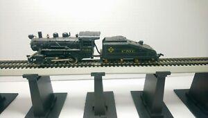 Tyco HO Train Custom Erie 0-6-0 Powered Steam Locomotive & Tender Both Diecast