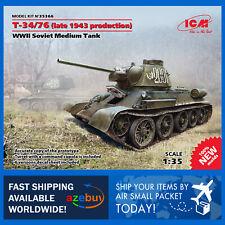Т-34/76 (late 1943 production) Medium Tank 1/35 Scale Plastic Model Kit ICM35366