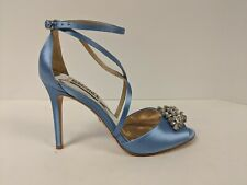 Badgley Mischka Tatum Embellished Stappy Sandal, Serenity Blue, Women's 6