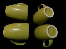 4 CORELLE CORNING STONEWARE Coffee Tea MUG CUP LIME PEA GREEN