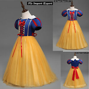 Biancaneve Vestito Maschera Carnevale Princess Snow White Costume Dress SNOW003