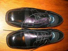 Nunn Bush Men's Comfort Gel Leather Black Oxford Dress Shoes Size 10.5 Medium