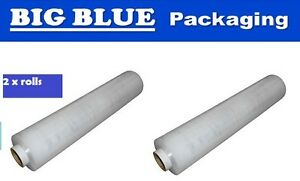 CLEAR STRETCH FILM 1 ROLL Pallet Wrap 400mm x 600mt 7um micron bundling wrapping