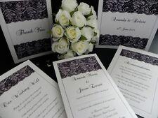 Black Lace Modern Vintage Wedding Engagement Invitations & Stationery - Samples