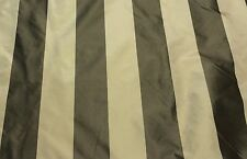 "MARCOVALDO PATRIZEA STRIPE BEIGE BRONZE 100% SILK FABRIC BY THE YARD 53""W"