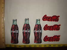 6pc Coca Cola Coke Bottles Fabric Applique Iron On