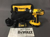 "DEWALT 18V NiCd Cordless 1/2"" Hammer Drill Kit w/Batteries, Charger DC725K-2 [A]"