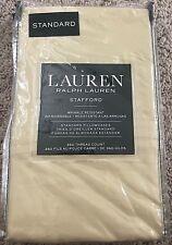 NWT Ralph Lauren Gold Straw STAFFORD Sateen Standard Pillowcase Set Pair 21x32