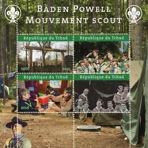 Chad Scouting Stamps 2021 CTO Girl Boy Scouts Baden-Powell 4v M/S