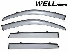 WellVisors Side Window Visors Deflectors W/ Black Trim For 05-09 Hyundai Tucson