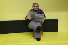DOLLS HOUSE =  Handcrafted   Character  MAN READING